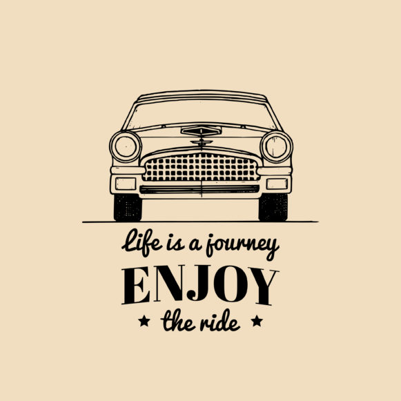 """Mistakes are important. Yellow background with words """"Life is a journey, enjoy the ride"""" in black print"""